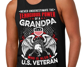 Gift For Grandfather Tank Top US Veteran Veterans Day Gift
