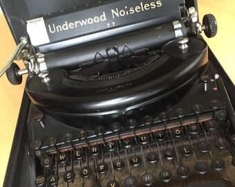 Underwood Noiseless 77 Typewriter