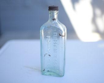 Vintage Glass Bottle with original cap
