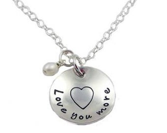 Love You More Necklace {Sterling Silver}