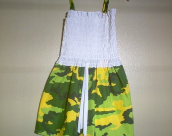 Camouflage Girls Sundress