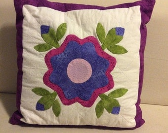 Baltimore flower cushion