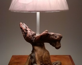 Lamp in Driftwood