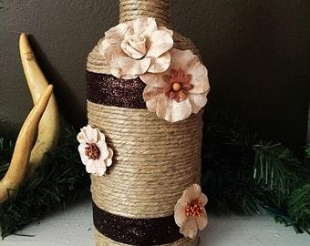 Floral Wine Bottle Vase