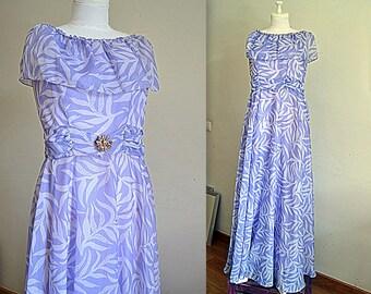 Reception gown bohemian wedding dress unique bridal gown lilac unique wedding dress wedding gown long evening dress maxi lilac size US 10