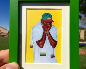 Tyler The Creator Painting - Mini Framed Art (FREE S&H)