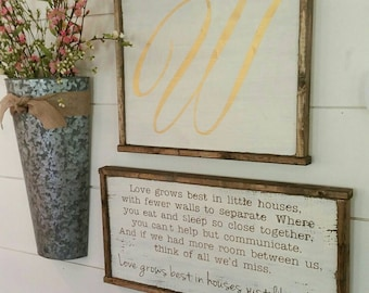 Small Love Grows Best 13x25