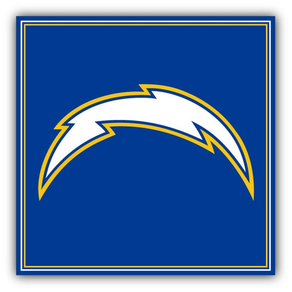 San Diego Chargers Car Decals: San Diego Chargers NFL Football Logo Car Bumper Sticker By