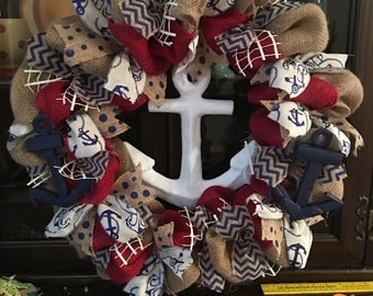 FREE SHIPPING on this Anchors away My Love 4in1 wreath