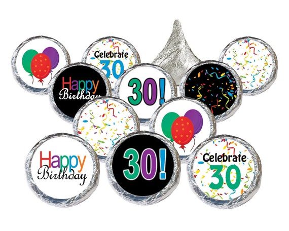30th birthday party favor sticker decorations or by for 30th birthday decoration packages