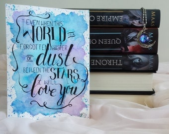 Empire of Storms by Sarah J Maas Quote Watercolour Typography