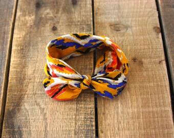 Bold Printed Topknot Headband