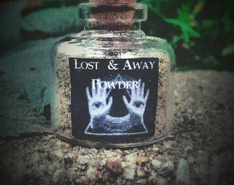 LOST AND AWAY Powder for Banishing, Protection, Get Rid of People or Problems in Your Life - Ritual Powder - Occult Supplies - Witchcraft