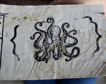 Octopus Lined Paper Journal