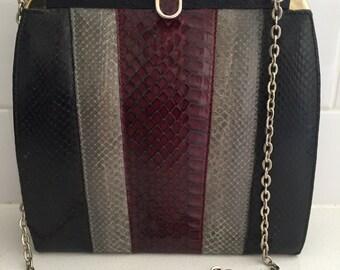 Snake Skin Purse - Genuine Leather - Snake Bag - Snake Shoulder Bag - England Made - Genuine Snake