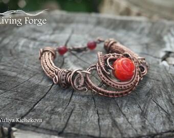 Viking bracelet, Viking jewelry, Viking knit, Wire wrap bracelet, Wrapped bracelet, Wire bracelet, Wire wrap jewelry, Viking knit bracelet