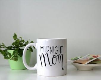 Midnight Mom - Handlettered mug