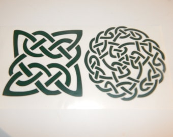 Set of 2 Celtic Knot Decals