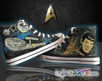 Custom handpainted Star Trek shoes