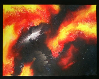 Space Canvas Painting - Solar Flare