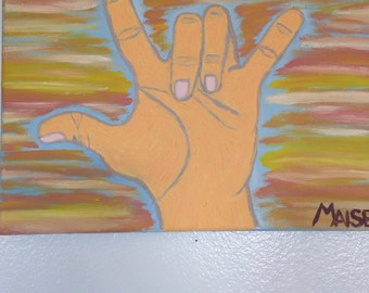 I love u hand