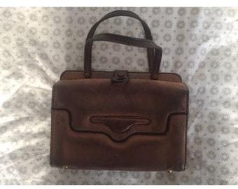 Vintage 60s Leather Handbag