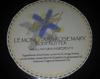 Lemongrass Rosemary Body Butter 6oz jar