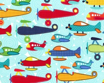 Michael MIller - Kids - Soar - Airplane - 100% Cotton Fabric - You choose the cut