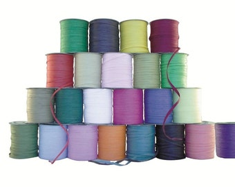 100m Roll of Raffia Paper Ribbon for Wedding Favours, Crafts and Invitations