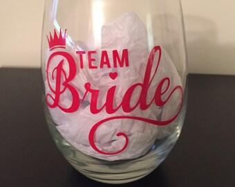 Customizable Team Bride Glass