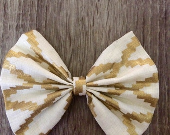 Gold&White Bow