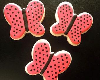 Custom Butterfly Sugar Cookies