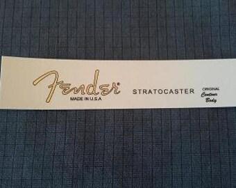 Custom Waterslide Decal for Fender Stratocaster in Gold metallic