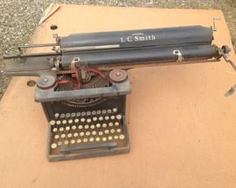 Rare antique typewriter format A3 Smith & Corona