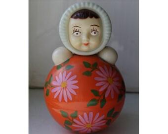Middle Roly-Poly. Soviet Roly-Poly. Nevalyashka  USSR 50's. Vintage. roly poly. soviet toy