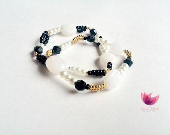 Black and white classic bracelet
