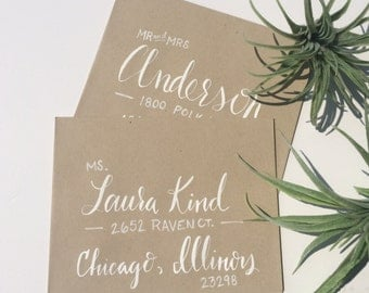 Wedding Envelopes, Custom Calligraphy
