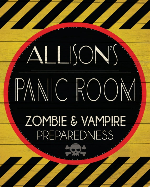 Custom panic room sign digital download for Custom panic room