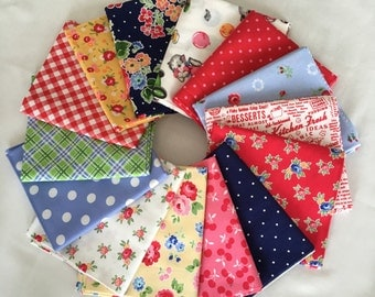 Pam Kitty Holly Holderman for LakeHouse Dry Goods Fat Quarter Fabric Bundle