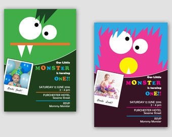 Personalised Monster Invitations - Birthday invitations