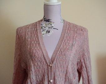 Pink vintage cardigan.