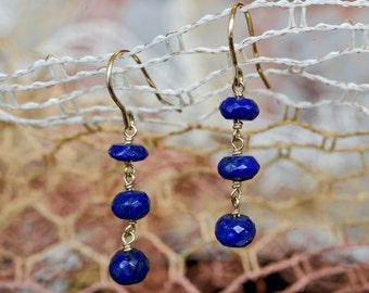 Golden Lapis Earrings