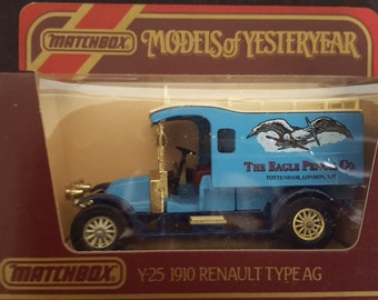 10% New Year discount Set of 3 Models of Yesteryear Y25 - Renault Type AG