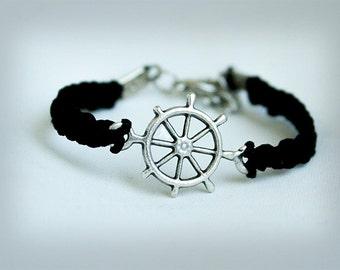 Wheel Bracelet, Macrame  Hemp Bracelet, Wheel Macrame