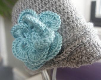 crochet newsboy girls hat, hats for girls, hats for toddlers, newsboy crochet hat for girls, kids hat, newsboy, hat with flower, sale
