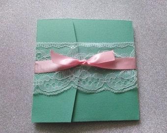 Wedding/Sweet 15 Pocket invitation