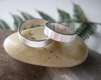 Aluminum adjustable midi rings- silver knuckle rings- pair of midi rings- trending jewelry- boho