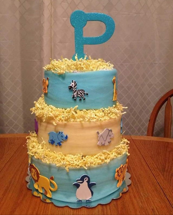 Animal Baby Shower Diaper Cake Boy Diaper Cake Diaper Cake