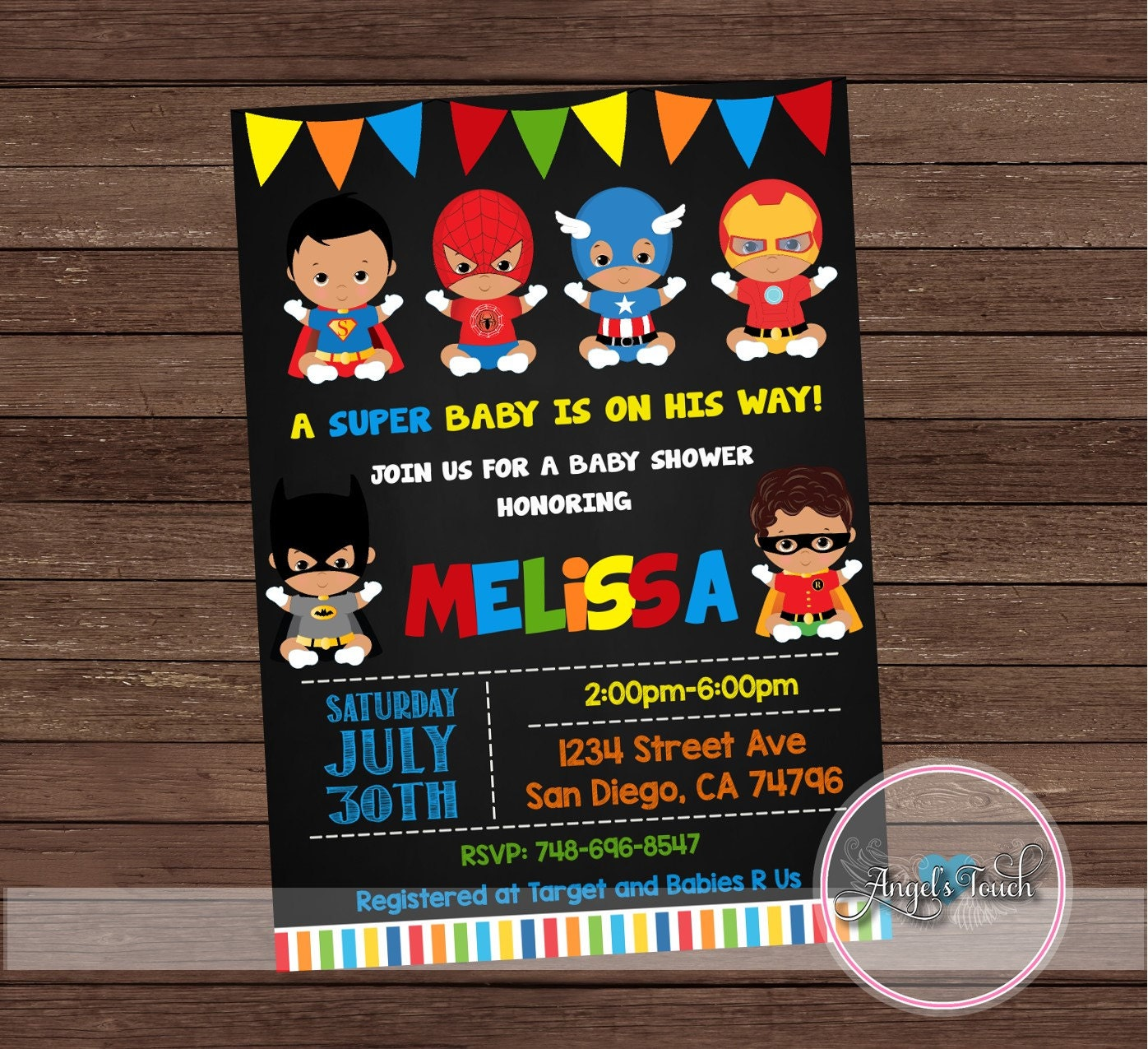 superhero baby shower invitation  etsy, Baby shower