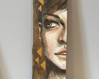 """Painting on wood  """"Triangles"""""""